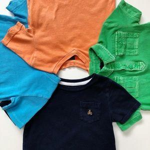 Baby Gap 4 PC Boys Shirt Bundle VGUC 18-24 Mos